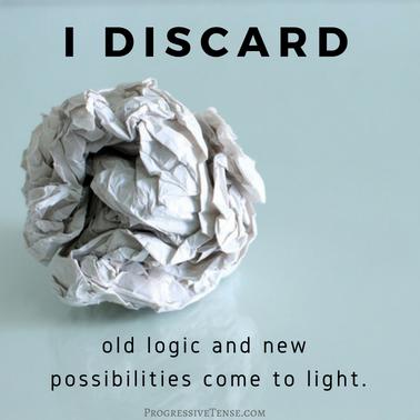 I DISCARD OLD LOGIC